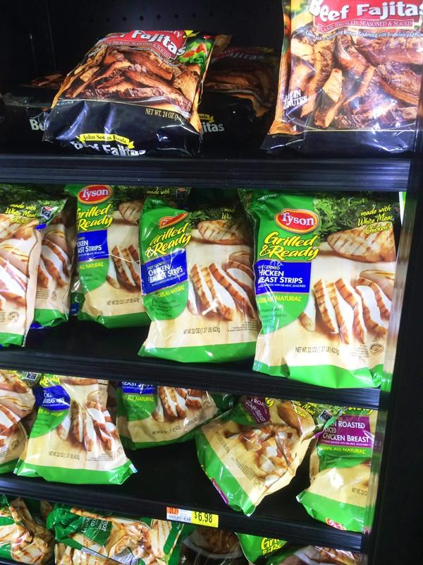Tyson Chicken is sold at Walmart