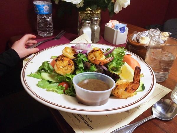 Union Oyster House Salad with Shrimp