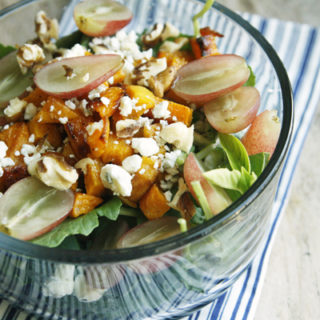 Grape, Roasted Squash and Blue Cheese Salad for One