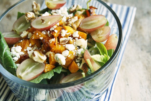 Grape, Roasted Squash and Blue Cheese Salad (and a Twitter Party)
