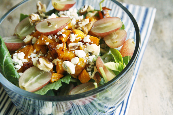 Grape, Roasted Squash and Blue Cheese Salad (and a Twitter Party ...