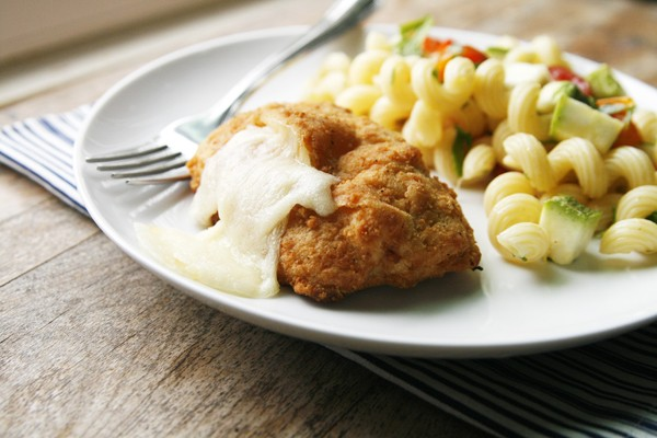 Chicken Cordon Bleu with Lemon Parsley Pasta Salad