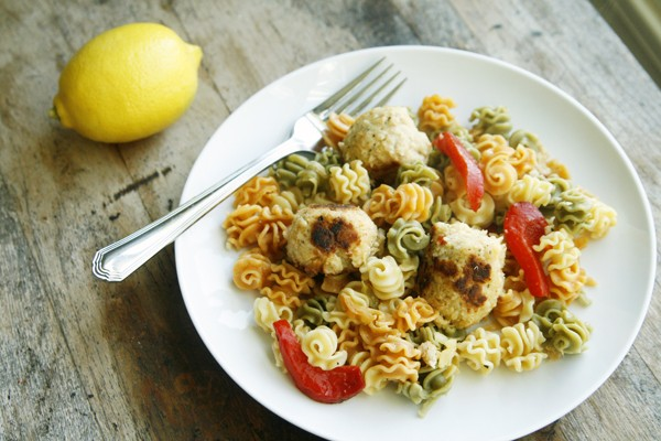 Lemon Tuna Meatball Pasta