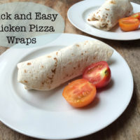 Quick and Easy Chicken Pizza Wraps for Two