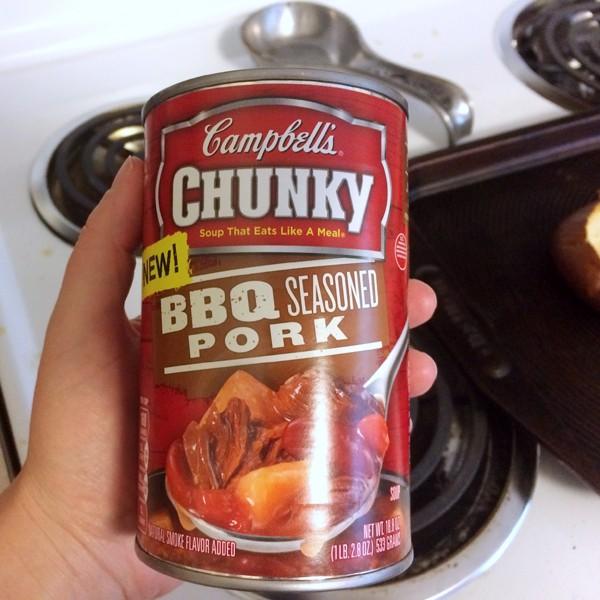 Campbells Chunky BBQ Seasoned Pork