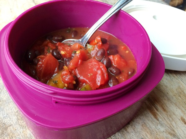 Cilantro Lime Tomato Soup for lunch