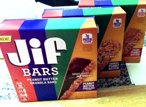 Jif Peanut Butter Bars for snacking