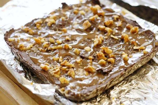 Dark Chocolate Caramel Walnut Fudge recipe