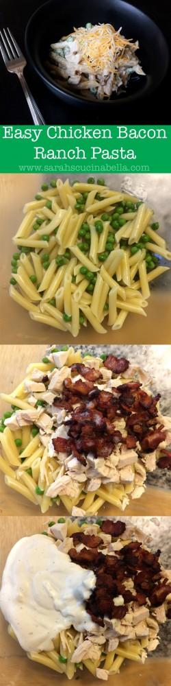 Easy Chicken Bacon Ranch Pasta