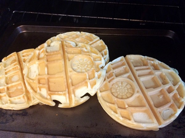 Making Death Star Waffles