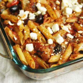 Mediterranean Pasta Bake Recipe with Ragu
