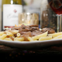 Easy Pinot Noir Chicken with Mushrooms