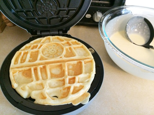 Using the Death Star Waffle Maker