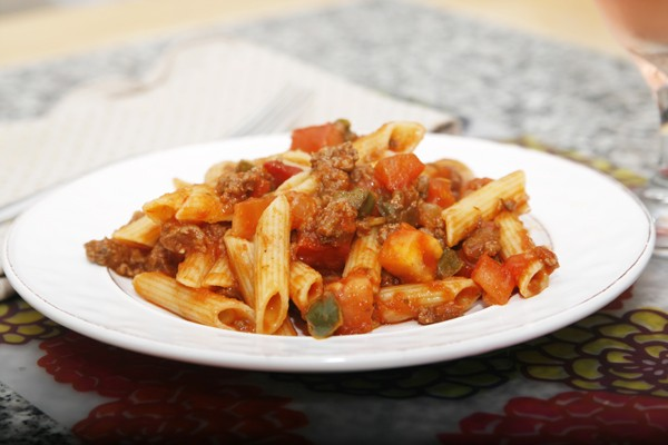 American Chop Suey with Gluten Free Pasta