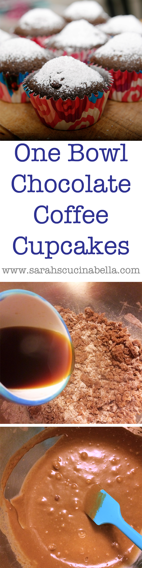 One Bowl Chocolate Coffee Cupcake Recipe - Sarah's Cucina ...