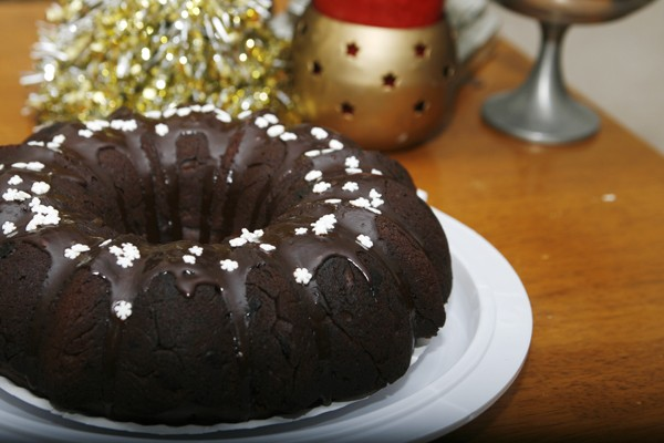 Recipe for Triple Chocolate Eggnog Cake