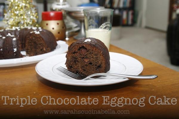 Triple Chocolate Eggnog Bundt Cake