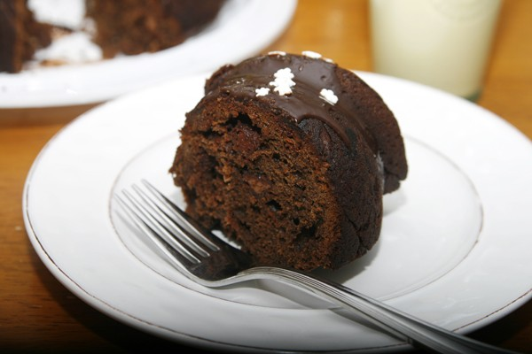 Triple Chocolate Eggnog Bundt Cake