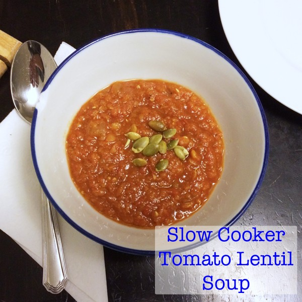 Recipe for Slow Cooker Tomato Lentil Soup