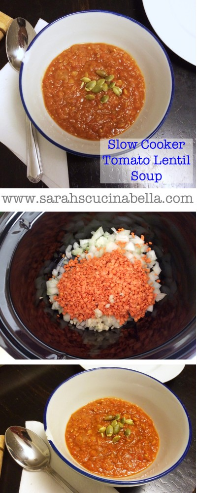 Slow Cooker Tomato Lentil Soup Pinterest