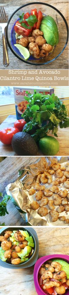 Avocado and Shrimp CIlantro Lime Quinoa Bowls