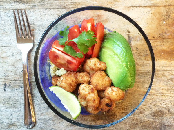 Avocado and Shrimp Cilantro Lime Quinoa Bowl Recipe
