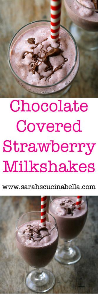 Chocolate Covered Strawberries Milkshake Recipe