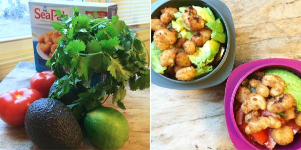 Making Avocado and Shrimp Cilantro Lime Quinoa Bowls