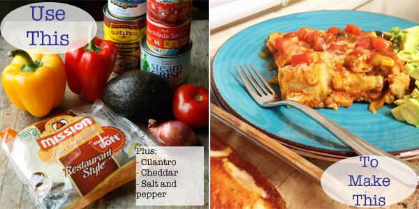Making Easy Vegetable Enchiladas