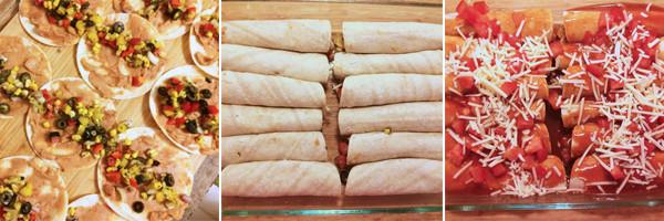 Steps for Making Easy Vegetable Enchiladas