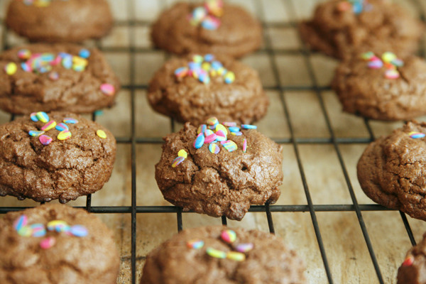 Batch of Double Dark Chocolate Cookies