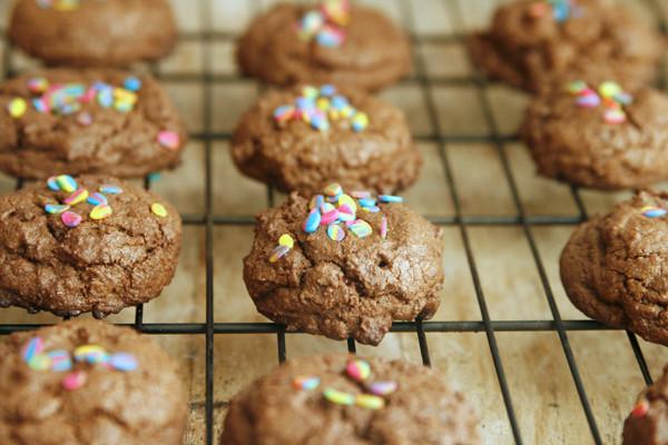 Batch of Double Dark Chocolate Cookies