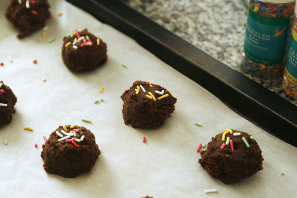 Making Double Dark Chocolate Cookies