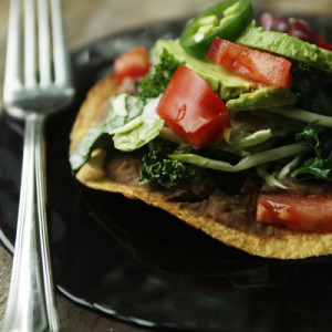 Sweet Baby Kale Tostada Recipe