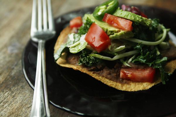 Sweet Baby Kale Tostada Recipe