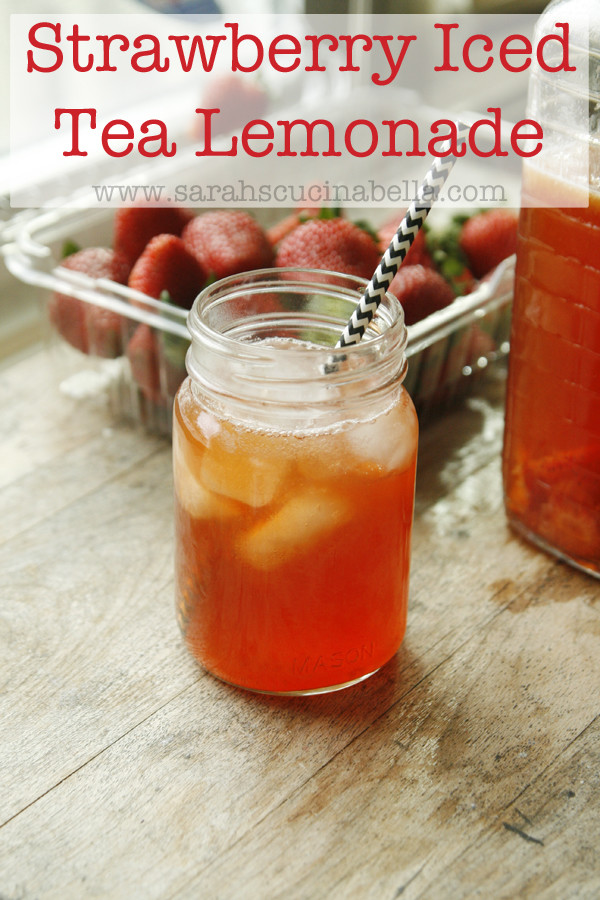 Recipe for Refreshing Strawberry Iced Tea Lemonade