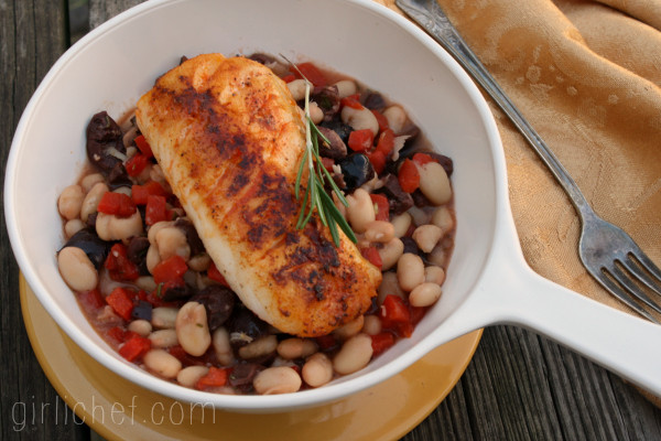 Cod on Roasted Pepper and White Beans 3