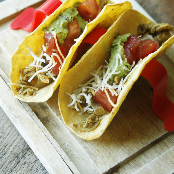 Shredded Chicken Tacos with Poblano Pepper