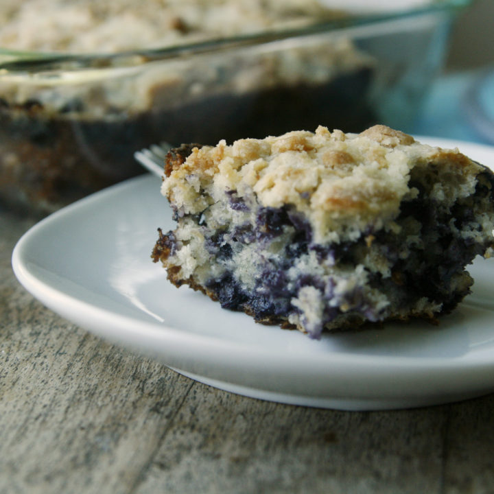Blueberry Oatmeal Crumb Cake