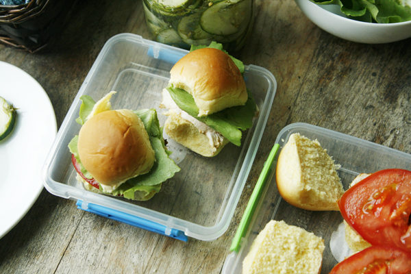 Garlic Dill Chicken Sliders for Lunchboxes