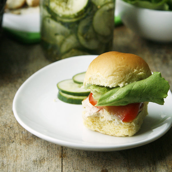 Garlic Dill Chicken Sliders recipe