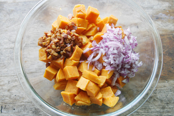 Making Sweet Potato Salad - 1