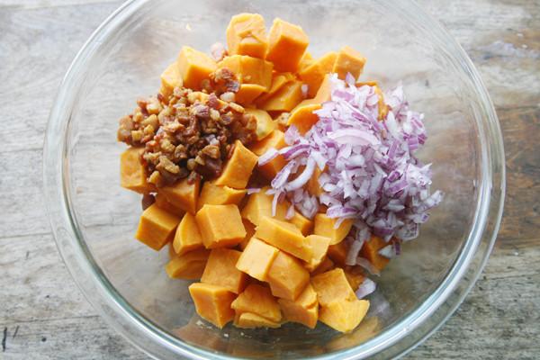 Making Sweet Potato Salad - 1