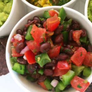 Mild Black Bean Salsa