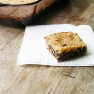 Dark Chocolate Chip Cookie Bars