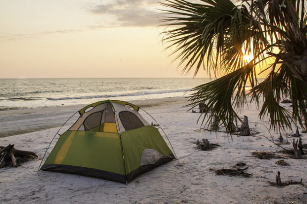 Beach Camping is Among the Fun Activities That Can Be Enjoyed in Gulf County, Florida.