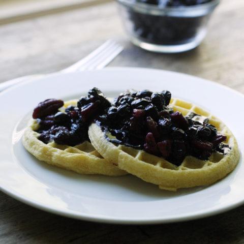 Easy Honeyed Blueberry Nut Sauce for Waffles