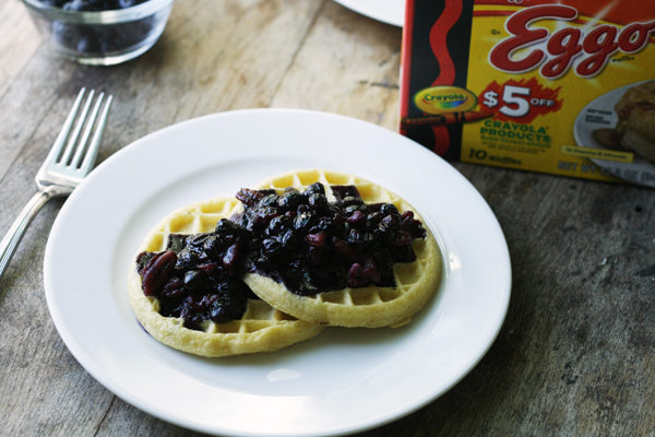 Easy Honeyed Blueberry and Nut Sauce for Waffles