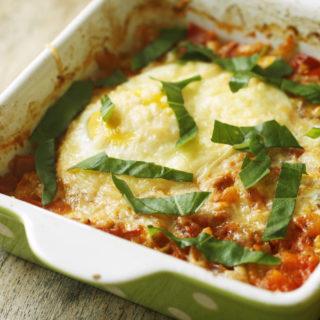 Recipe Tomato and Shallot Baked Egg