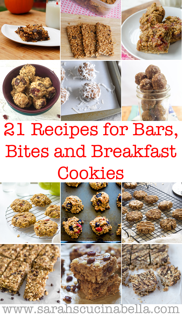 Back to school is nearing! These 21 recipes for bars, bites and breakfast cookies are perfect for filling lunch boxes this fall.